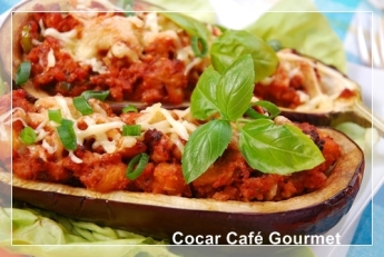 stuffed aubergine