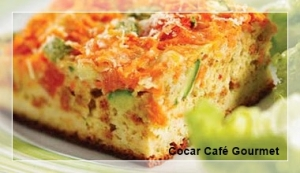 Torta legumes e presunto